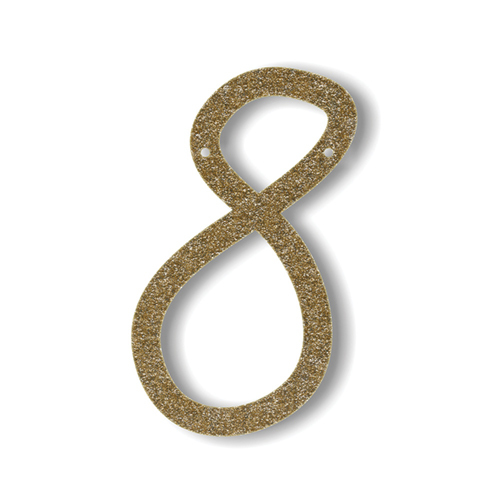 Акриловая подвеска для растяжки 8, мерцающее золото