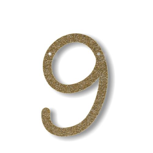 Акриловая подвеска для растяжки 9, мерцающее золото