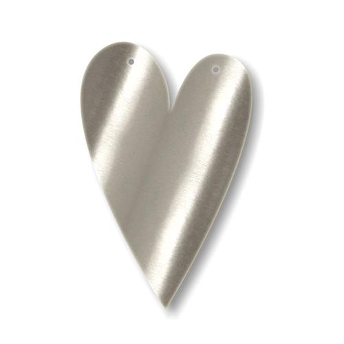 """Акриловая подвеска для растяжки """"Сердце"""", серебро"""