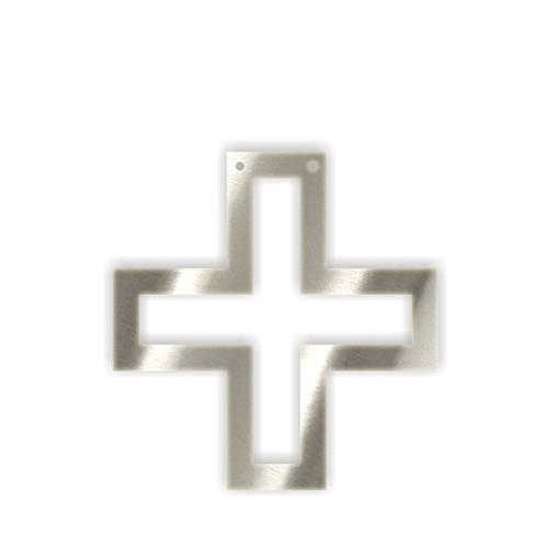 """Акриловая подвеска для растяжки """"Плюс"""", серебро 136099"""