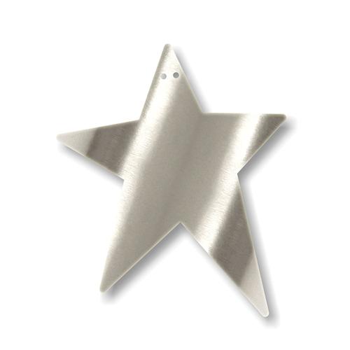 """Акриловая подвеска для растяжки """"Звезда"""", серебро"""