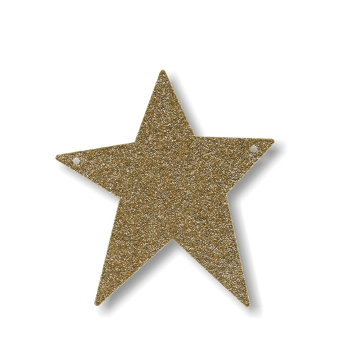 """Акриловая подвеска для растяжки """"Звезда"""", мерцающее золото 136171"""