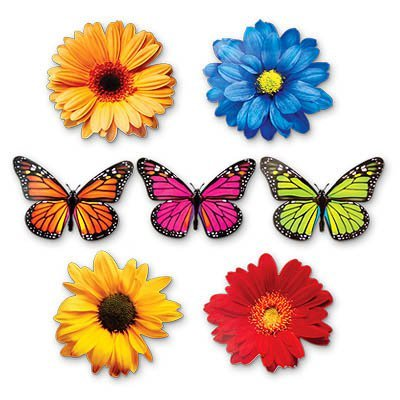 Баннер-комплект Бабочки Цветы, 12 шт. 1401-0151