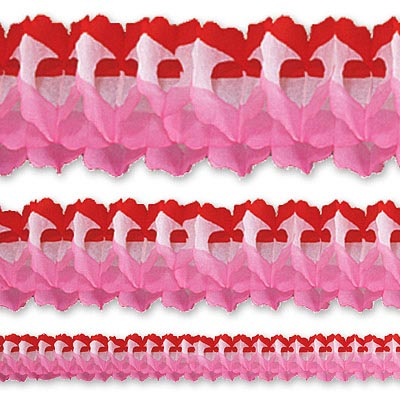 Гирлянда Декор 3,6м красно-бело-розовая 1404-0356