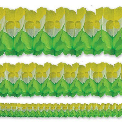 Гирлянда Декор 3,6м зелено-бело-желтая 1404-0357