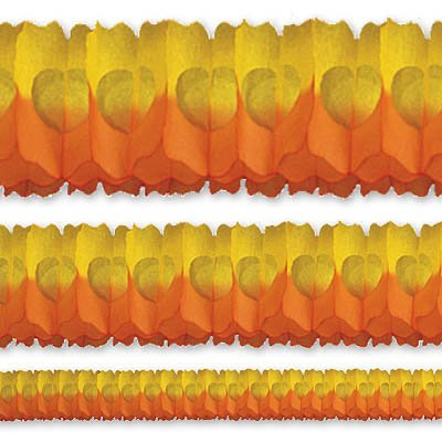Гирлянда Декор 3,6м оранжево-желтая 1404-0358
