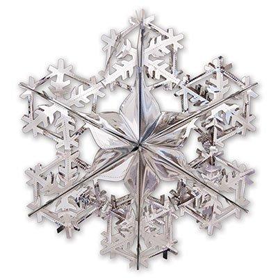 Украшение Снежинка 2 серебро, 90см 1410-0417