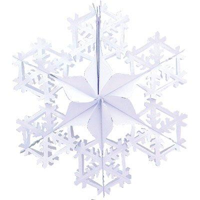 Украшение Снежинка фольга белая, 60см 1410-0419