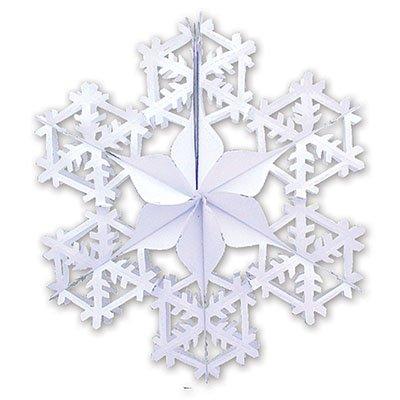 Украшение Снежинка 2 белая, 90см 1410-0421