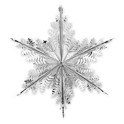 Украшение Снежинка3 фольг. серебро, 40см 1410-0422