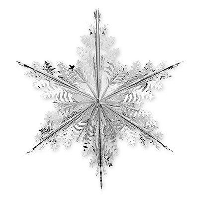 Украшение Снежинка фольгированная, 60см 1410-0423