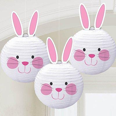 Фонарики бумажные Кролик, 24 см, 3 штуки 1410-0569