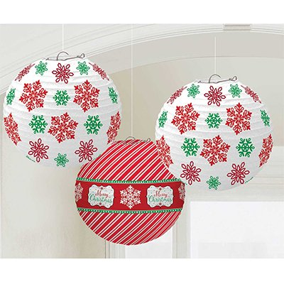 Фонарики бумажные Рождество, 3 шт 1410-0610