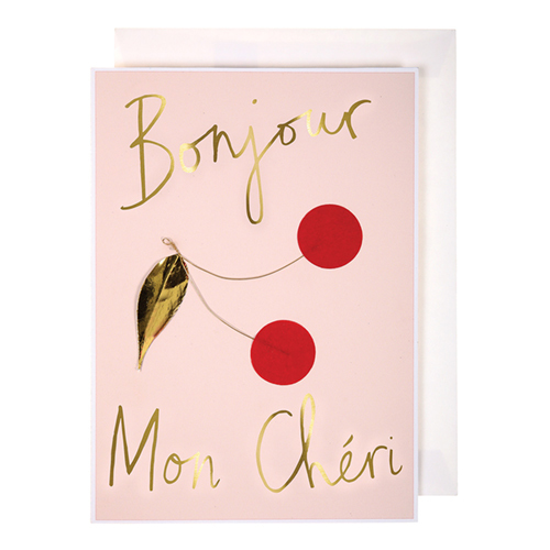 "Открытка ""Bonjour Mon Cheri!"""