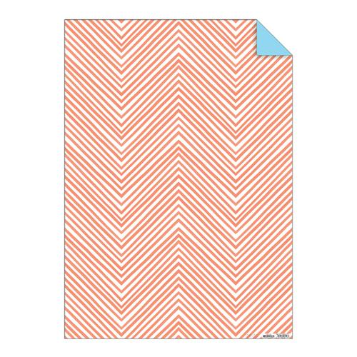 """Упаковочная бумага """"Шеврон"""", коралловая, неон 144109"""