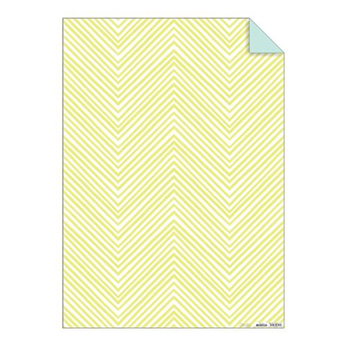"Упаковочная бумага ""Шеврон"", желтая, неон 144118"