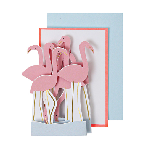 "Открытка ""Фламинго"" 145189"