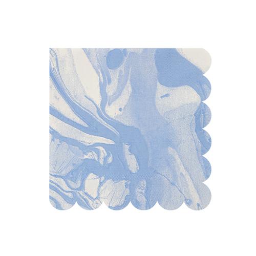 """Салфетки """"Мрамор"""", голубые, маленькие, 20 шт. 145909"""