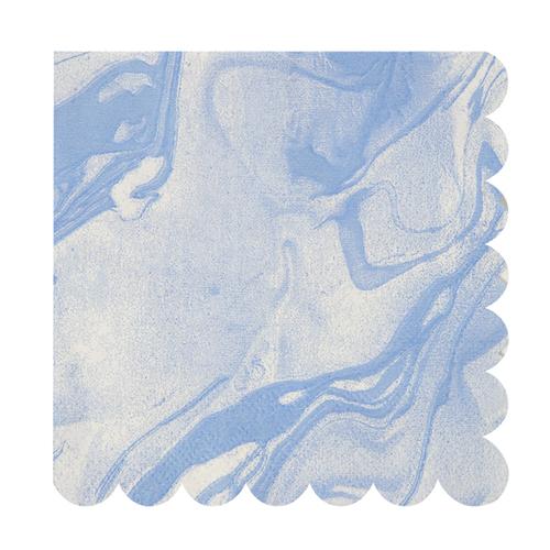 """Салфетки """"Мрамор"""", голубые, большие 145945"""