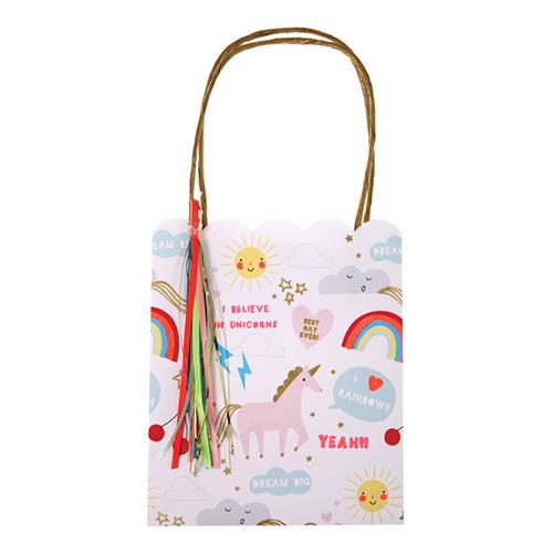 """Пакеты для подарков гостям """"Радуга и единорог"""", 8 шт. 146881"""