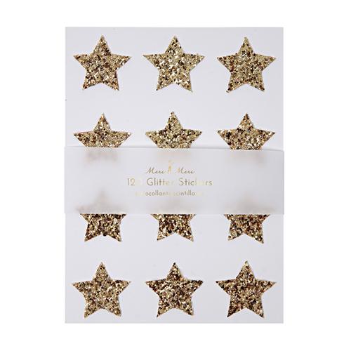 """Стикеры """"Мерцающие звезды"""", серебро 149896"""