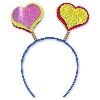 Ободок-антенка фигурная сердце 1501-0016