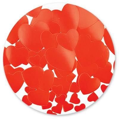 Конфетти в виде красных сердечек, бумажные 56гр 1501-0178