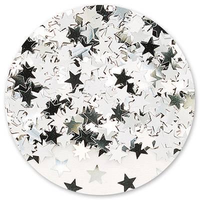 Конфетти Звезды серебряные 14гр 1501-0196