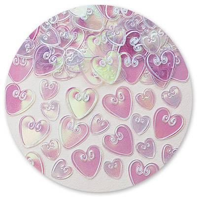 Конфетти Сердца с вензелем перл 14гр 1501-0210