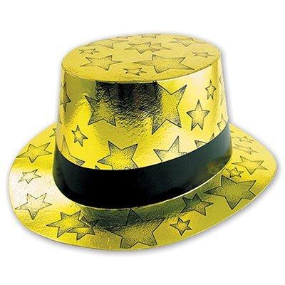 Шляпа Звезды фольга золотая 1501-0425