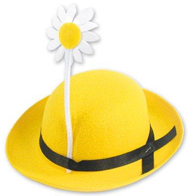 Шапочка с цветком фетр ассорти 1501-0433