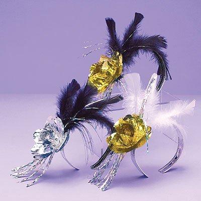Ободок на голову Цветок с перьями 1501-0478