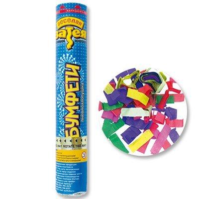 Хлопушка 30см конфетти бумага