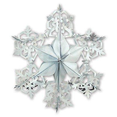 Украшение Снежинка серебряная, 60 см 1501-0741