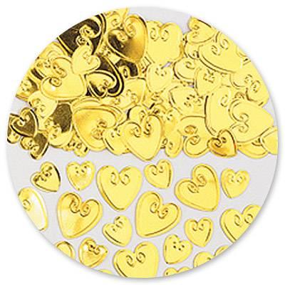 Конфетти Сердца с вензелем золот 14гр 1501-0863