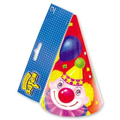 Колпак Клоун с шарами 6шт 1501-1020