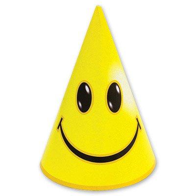 Колпак желтый Улыбка, 8 шт 1501-1040