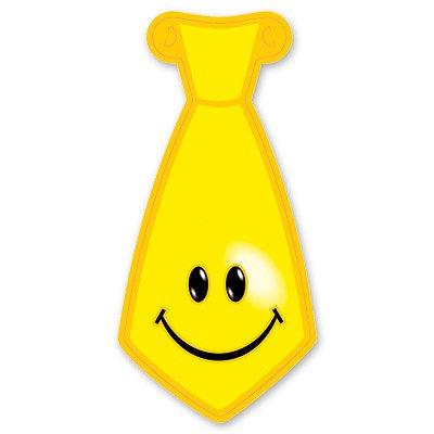 Галстук Улыбка желтый 8шт 1501-1041