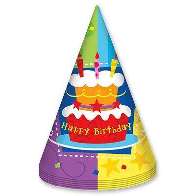 Колпак Торт Birthday 6шт 1501-1149