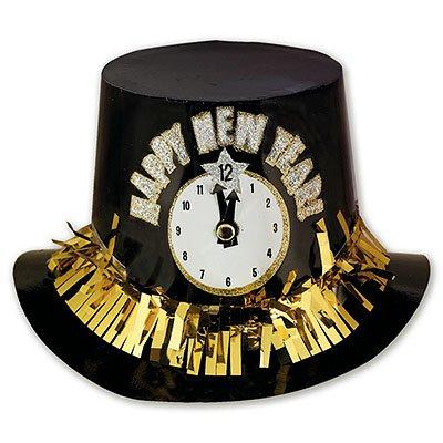 Шляпа пластиковая Новогодние Часы 1501-1390