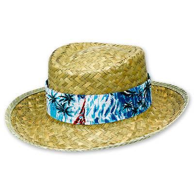 Шляпа соломенная Гавайи с цветной лентой 1501-1410