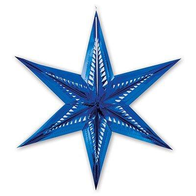 Фигура Звезда 6-ти конечная синяя, 60 см 1501-1525