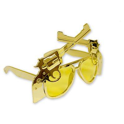 Очки Револьверы золотые 1501-1731
