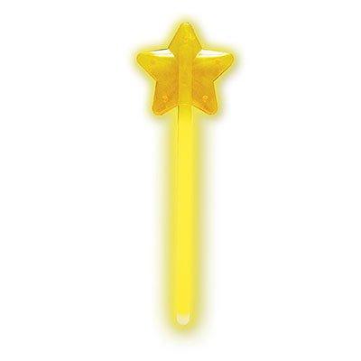 Светящаяся звездочка на палочке, желтая 1501-1757