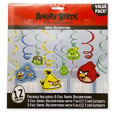 Спираль Angry Birds 46-60см, 12 штук 1501-1883