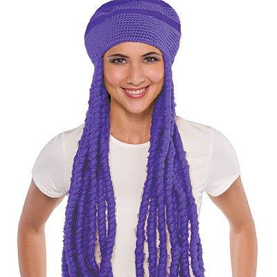 Парик Шапка с дредами фиолетовая 1501-2160