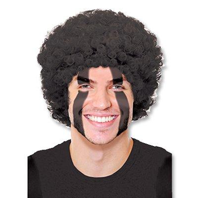 Черный парик карнавальный, кудрявый 1501-2181
