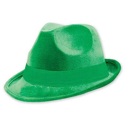 Шляпа-федора велюр Зеленая 1501-2189