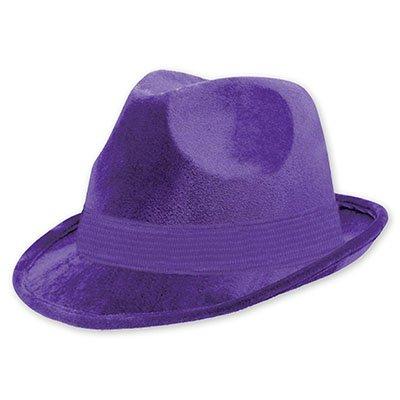Шляпа-федора велюр Фиолетовая 1501-2190