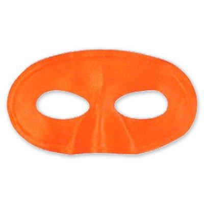 Полумаска атлас оранжевая 1501-2265